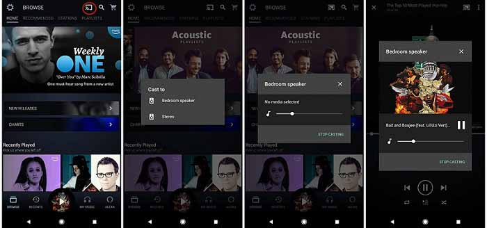 play amazon music on google home from android devices