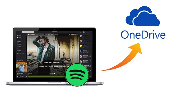 upload spotify to onedrive