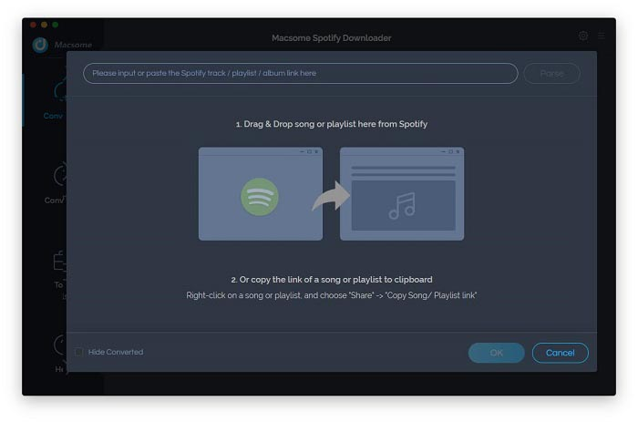 Add Spotify music to Spotify Downloader