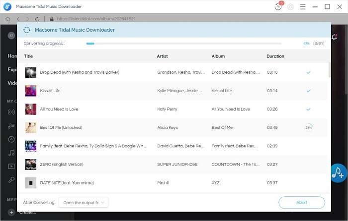 Downloading from TIDAL Web Player